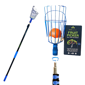 EVERSPROUT-13-Foot-Fruit-Picker-(20+-Foot-Reach)--Preassembled,-Easy-to-Attach-Twist-On-Basket