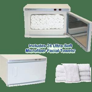 High-Capacity-Hot-Towel-&-UV-Sterilizer-Cabinet