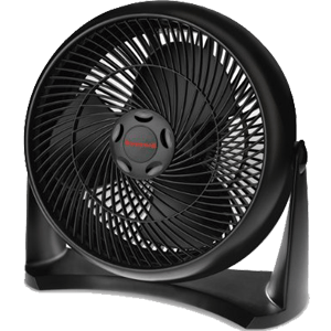 Honeywell HT-908 Turbo Force Room Air Circulator Fan, Black, 15 Inch