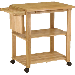 Winsome-Wood-Utility-Cart,-Natural