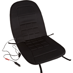 AmazonBasics 12-Volt Heated Seat Cushion with 3-Way Temperature Controller - Polyester (Latest Version)