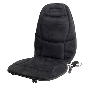 Wagan Soft Velour 12V Heated Seat Cushion Ultra Plush with High/Low/Off Temperature Control (Black)