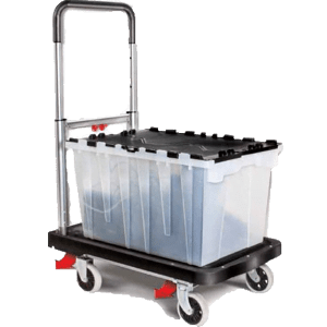Magna-Cart-Flatform-300-lb-Capacity-Four-Wheel-Folding-Platform-Truck