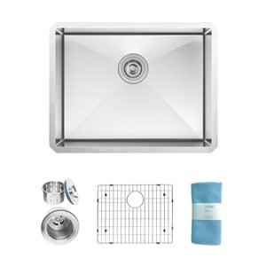 Zuhne-Modena-Undermount-Single-Bowl-23-x-18-Inch-16-Gauge-Stainless-Steel-Kitchen-Sink-Bar-or-Prep-Kitchen-Sink