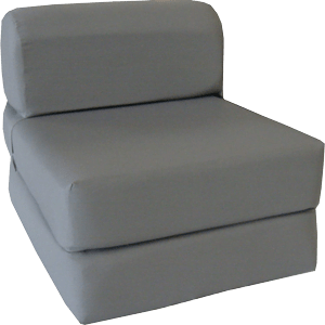 Gray-Sleeper-Chair-Folding-Foam-Bed-Sized