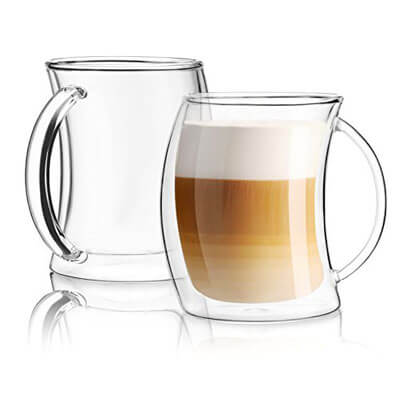 0fd089e770f Top 10 Best Glass Coffee Mugs in 2019 - Guide & Reviews