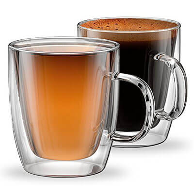 Stone & Mill Double Wall Insulated Glass Coffee Mugs