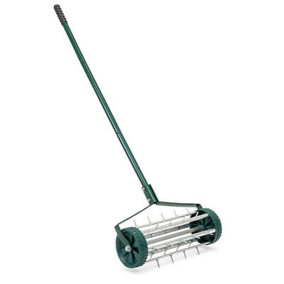 Best Choice Products 18in Rolling Lawn Aerator