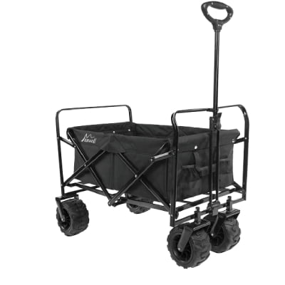 Maxwell Outdoor Heavy Duty Collapsible Folding All Terrain Utility Beach Wagon (