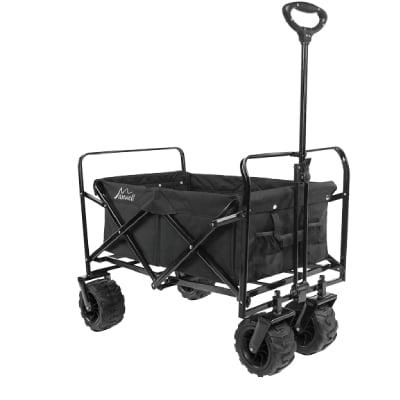 Maxwell Outdoor Heavy Duty Collapsible Folding All Terrain Utility Beach Wagon (