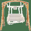 Lazy Daze Hammocks Deluxe Wooden Arc Frame Hammock Swing Chair Stand Heavy Duty