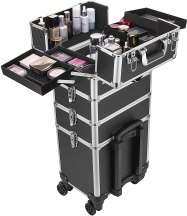 VIVOHOME 4 in 1 Makeup Rolling Train