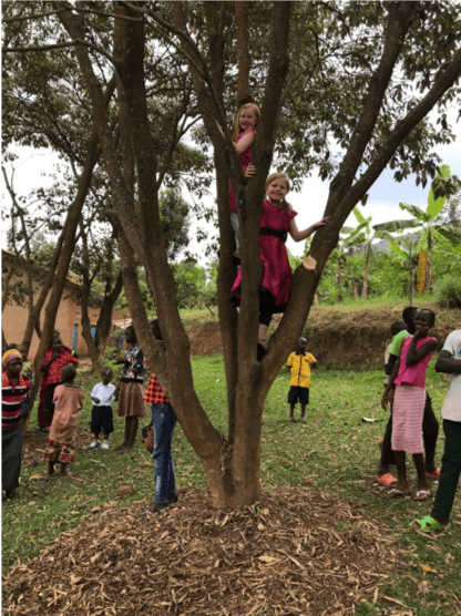 klassen family 5 five africa rwanda home of hope lacey jacob jake eleah brianca blaze fun safari trip mission tour hoh brian thomson blog post 2019 climb tree
