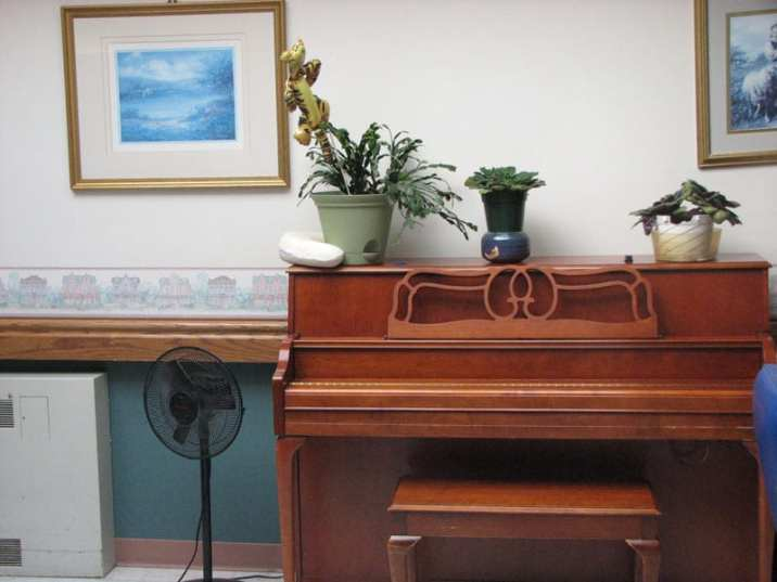 piano in the nursing home