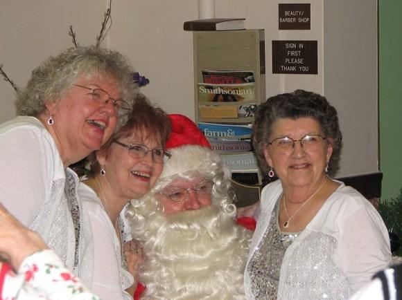 Present Company with Santa