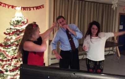 Mr. Karaoke himself Rick, with Doreen and Kim