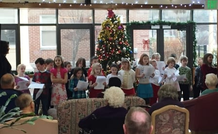 Choir of little angels! Colleen Henry's class from Fairview school