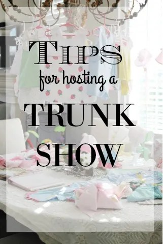 d3cd9dbb30 There are lots of different types of trunk shows out there. I'm going to be  discussing a trunk show for baby clothes, but a lot of these same concepts  apply ...