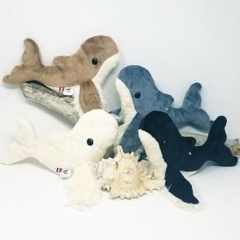 Marceau le doudou baleineau se décline en 4 coloris