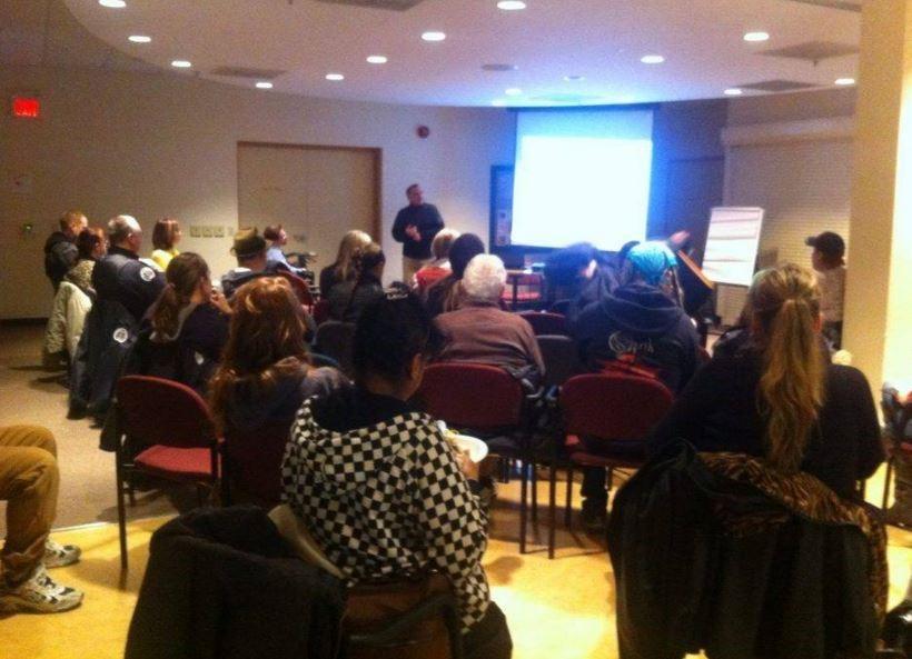 Participants at one of Dan's seminars