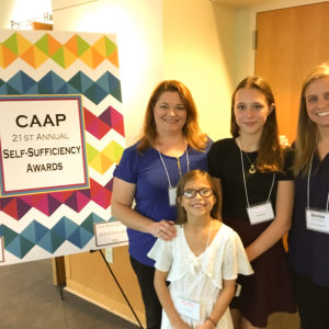 Home Of The Sparrow Program Participant Receives Self-Sufficiency Award