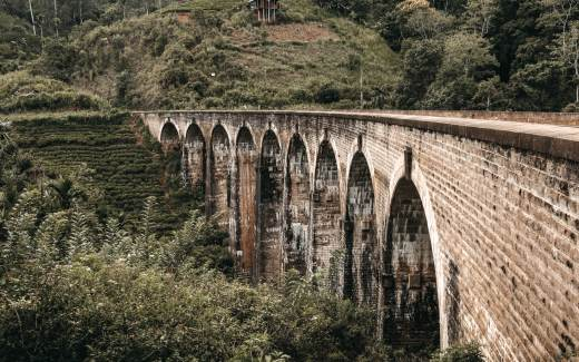 Nine Arches Bridge in Sri Lanka
