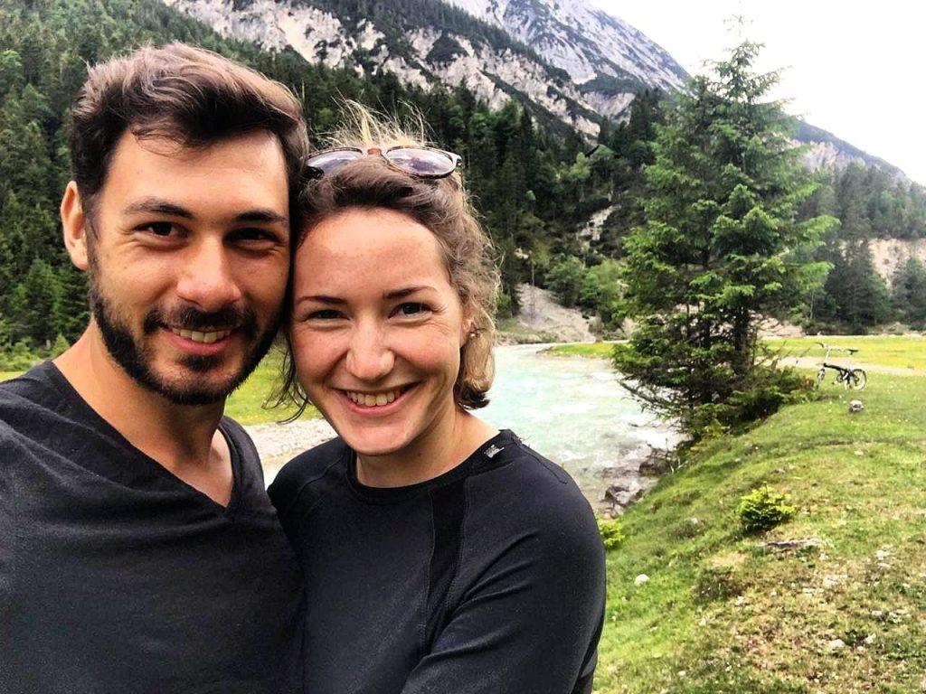Bene und Andrea unterwegs auf dem Isarradweg
