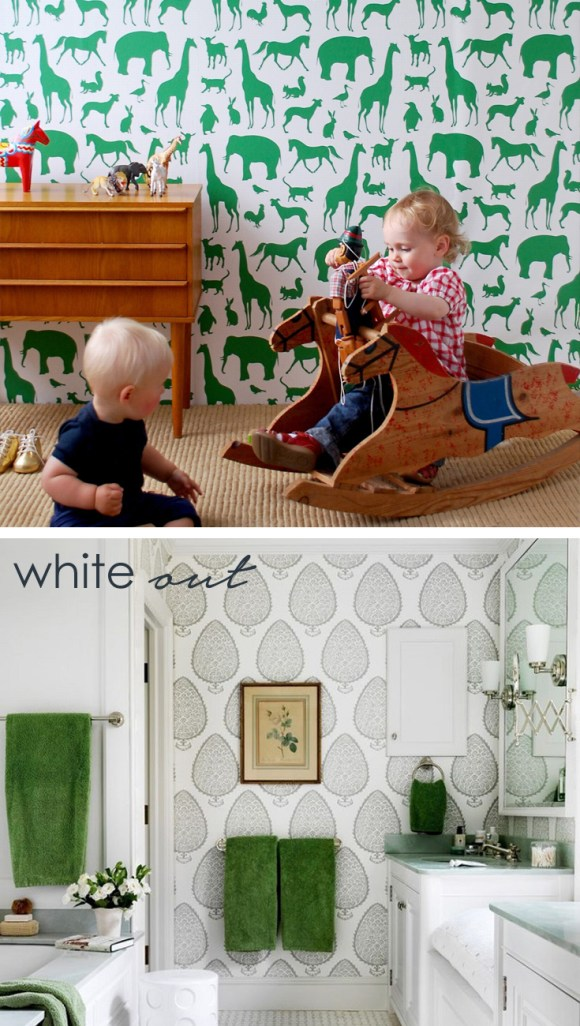 colour in a small room white out
