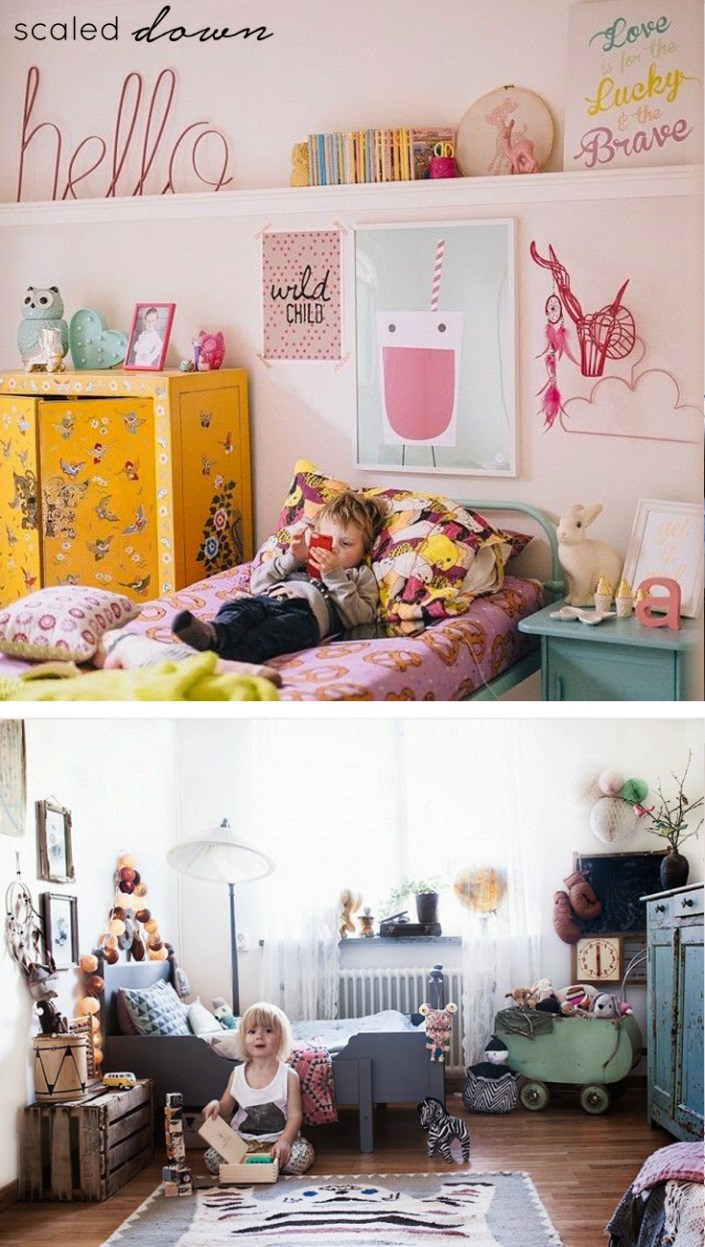 small kids rooms scaled down