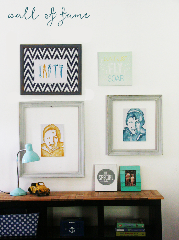 Watercolour Portrait DIY wall of fame