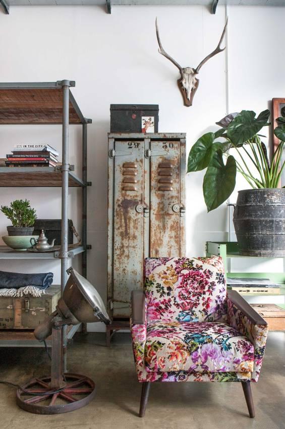 bloemenprint-stoel