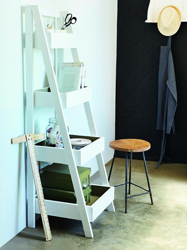 storage ladder shelf