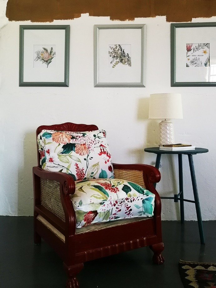 home makeover painted armchair