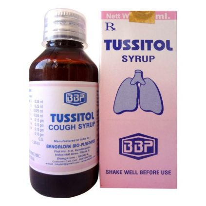 BBP Tussitol cough syrup, Homeopathic cough medicine
