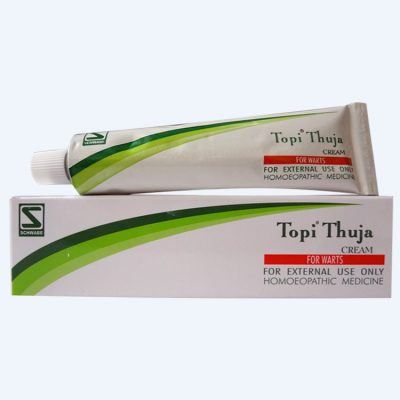 Schwabe Topi Thuja Cream for Warts, Condylomata, Body growths. Human papilloma virus (HPV)