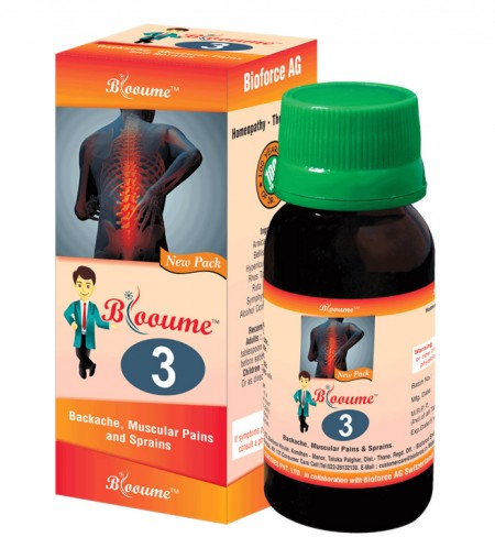 Buy Blooume 3 - Bakosan drops for backache, muscular pain, Sprain
