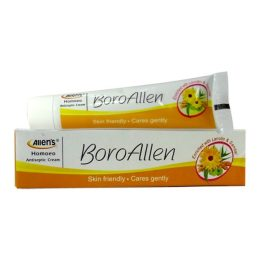 BoroAllen Homeo Antiseptic Cream with Berberis aquifolium 1x, Calendula off 1x, Hydrocotyle 1x, Azadirachta indica- 1x,Curcuma longa, Oleum santali (sandal wood oil)