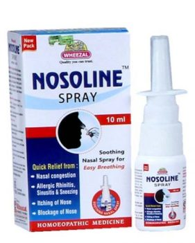 Wheezal Nosoline Spray for Nasal Block, Allergic Rhinitis, Sinusitis