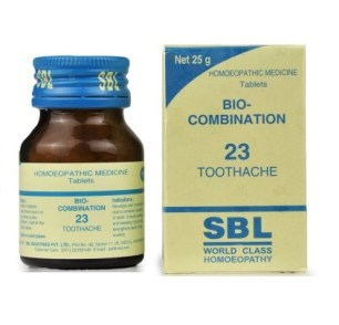 SBL Bio Combination 23 Tablets for Toothache, 25gm