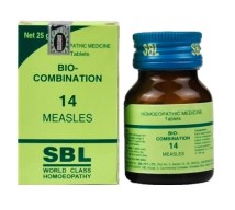 SBL Bio Combination No. 14 Tablets for Measles, 25gm