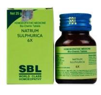 SBL Biochemics Tablets Natrum Sulphurica 3x, 6x, 12x, 30x, 200x