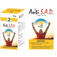 Dr.Raj Anti S.A.D Tablets Homeopathic anti-Anxiety remedy