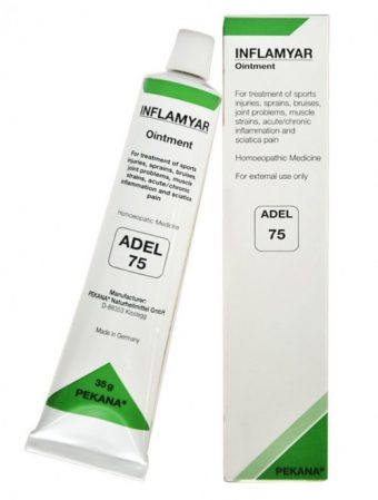 ADEL 75 Inflamyar Ointment for sports injuries, inflammation, arthritis, muscles pain, bursitis, sprains, bruises