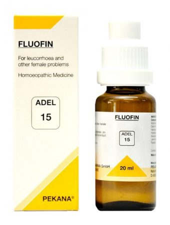 ADEL 15 Fluofin homeopathic drops for leucorrhoea (female problems), vaginal discharge,leukorrhea