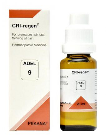 ADEL 9 Cri-Regen homeopathy medicine for hair loss, hair thinning, male pattern baldness