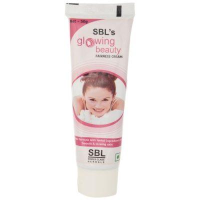 SBL homeopathy Glowing beauty fairness and scar cream with berberis, Thuja, Calendula. Best Herbal Fairness cream