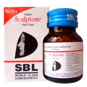 New SBL Scalptone Tablets for total hair care, hair loss, premature graying, dandruff