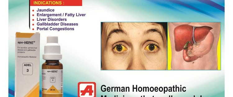 Adel 3 homeopathy drops for symptoms of jaundice