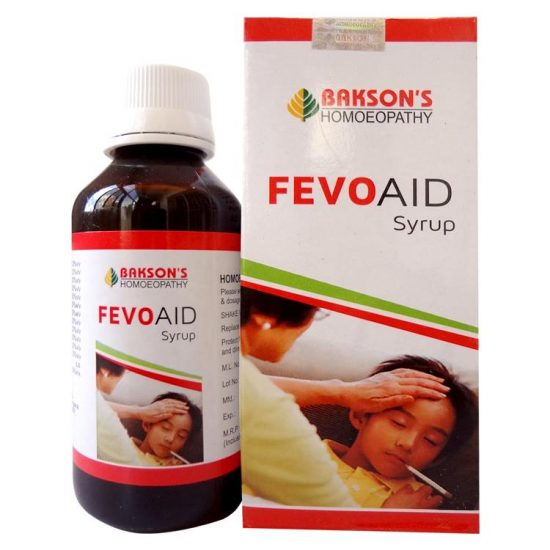 Baksons Fevo Aid Syrup - effective homeopathic fever medicine, anti-pyretic