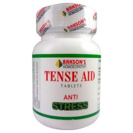 Baksons Tense Aid Tablets for stress free life. Anxiety Homeopathy Medicine